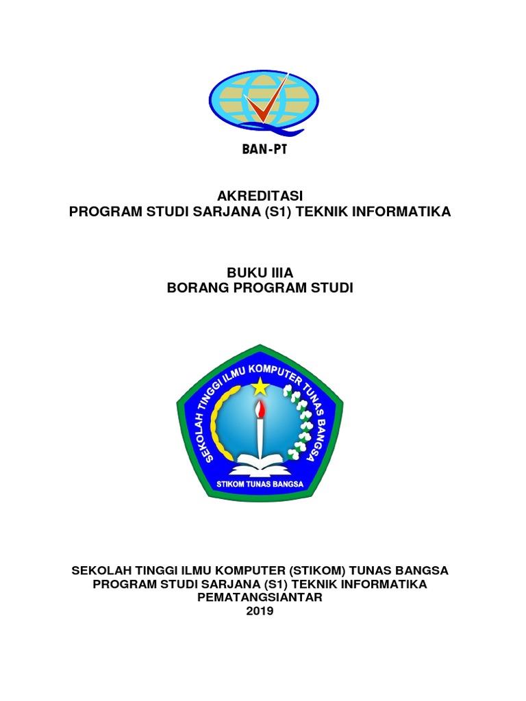 Buku Iiia Borang Program Studi Teknik Informatika Stikom Tunas
