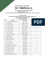 Daftar hadir triase