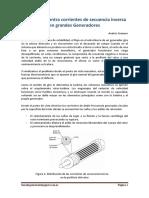 Protección de secuencia inversa en Generadores