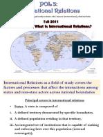 International Relations Intro