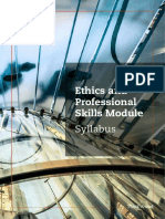 Ethics and Professional Skills Module Syllabus