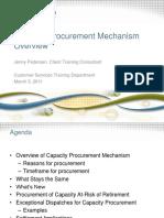 Capacity Procurement Mechanism Overview