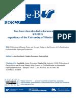 Smolinski Utilization of Energy Crops and Sewage Sludge