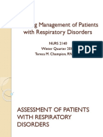Nursing Management of Patient With Respiratory Problems
