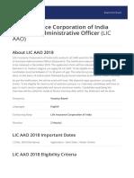 LIC AAO Brochure