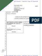 Consent judgment in Warner Bros. v Triton Media