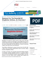 Reasons for the Downfall of Kingfisher Airlines, An Overview !