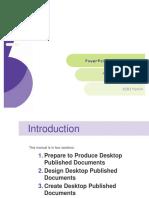 BSBITU404 Element 1 - Prepare to Produce Desktop Published Documents