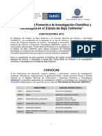 Bases Convocatoria FOMIX 2010