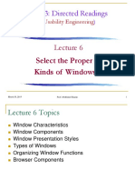 Lecture 6 - Select the Proper Kinds of Windows