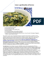 receta espinacas gratinadas al horno