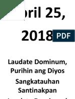 Fr Dennis Line-up