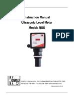 Ultrasonic Level Transmitter NUS Manual