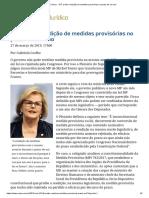 STF Proíbe Reedição de Medidas Provisórias No Prazo de Um Ano