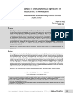 Avaliações Institucionais e de Sistemas Na Formação de Professores Em Educação Física Na América Latina