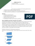 quadrilaterals lesson plan