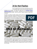 DHEA for Hot Flashes