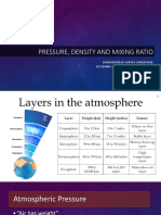 Pressure Density and Mixing Ratio