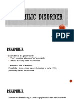 Paraphilic Disorder
