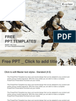 Squad of Soldiers in the Desert PowerPoint Templates Standard