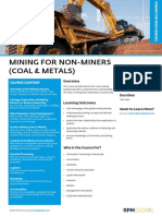 Rpm Course Overview Mining for Non Miners Coal Metals