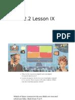 C2.2 Lesson IX