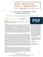 Hyperglicemic Control in Ped Intensive Care
