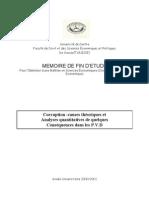 Mémoire:Corruption :causes théoriques et analyses quantitative de quelques conséquences dans les PVD