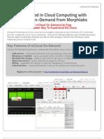 Morphlabs - mCloud on-Demand Datasheet