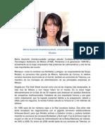 María Asunción Aramburuzabala vicepresidenta del GRUPO MODELO