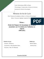 Etude d'impact de dynamique de la masse monétaire sur l'évolution de l'inflation en Algérie 1990-2012.pdf