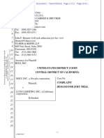 HGCI Inc. v. Luxx Lighting - Complaint