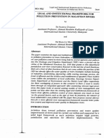 2008 - Legal and Institutional Framework for Pollution Prevention in Malaysian Rivers