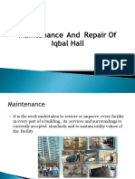 repair and maintenance of building