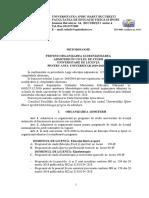 Metodologie Admitere Licenta 2019
