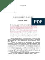 Stigler 1964_El Economista y El Estado