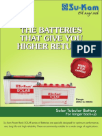 Sukam Solar Tubular Battery