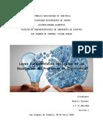 Leyes Fundamentales Aplicadas en La Resolucion de Problemas en Ingenieria