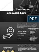 Ethics, Constitution and Media Laws