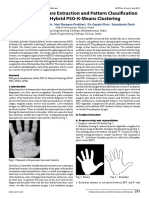 A Palm Print Feature Extraction and Pattern Classification Based on Hybrid PSO—K-Means Clustering