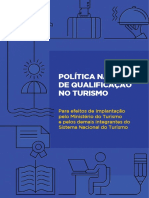 Política Nacional de Qualificação no Turismo
