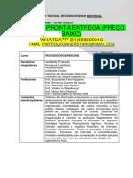 Produção Textual Da Empresa Divino Sabor Temos a Pronta Entrega Whatsapp 91988309316 Email Portfoliouniversitario@Gmail