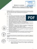 directiva para rendicion de cuentas