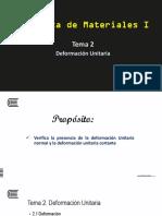 Tema 2 - Deformacion Unitaria