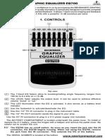 Beh Eq700 Manual