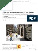 """As Dez Lojas Imperdíveis Para Visitar Na """"Rua Do Ouro"""" _ VEJA SÃO PAULO"""