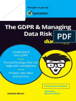 (For Dummies) Andrew Moore - The GDPR & Managing Data Risk For Dummies®, Symantec Special Edition-Wiley (2018)