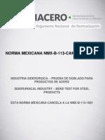 NMX-B-113-CANACERO-2015