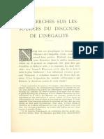 MOREL, Jean. Recherches sur les sources du Discours sur l'inegalité.pdf