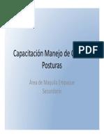 Ayuda Didáctica Audiovisual Capacitación Manejo de Cargas y Posturas